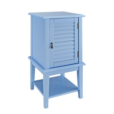 Bayville Shutter End Table Color: Ocean Blue