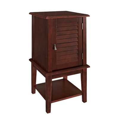 Bayville Shutter End Table Color: Red