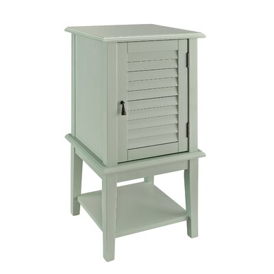 Bayville Shutter End Table Color: Aqua