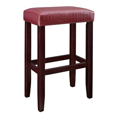 30 Bar Stool (Set of 2) Upholstery: Red