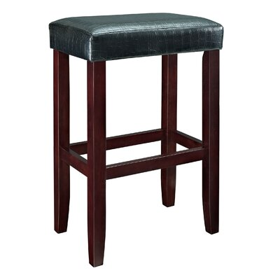30 Bar Stool (Set of 2) Upholstery: Black