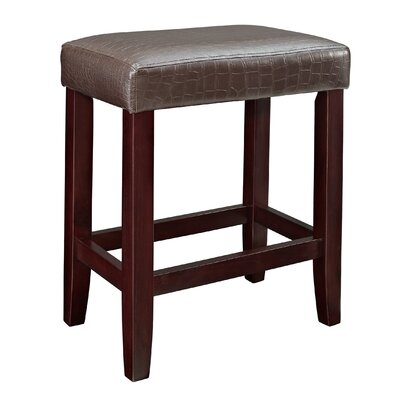 24 Bar Stool Upholstery: Brown