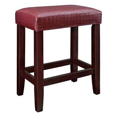 24 Bar Stool Upholstery: Red