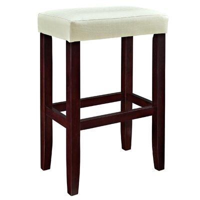 30 Bar Stool (Set of 2) Upholstery: White