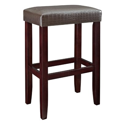 30 Bar Stool (Set of 2) Upholstery: Brown