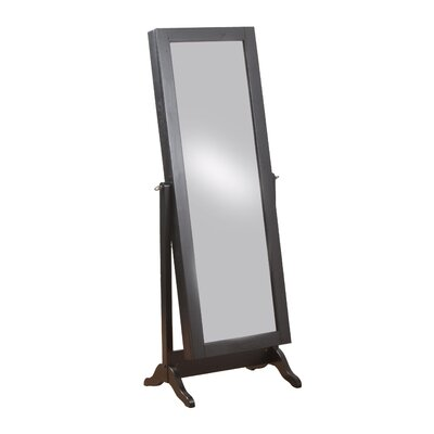 Sliding Jewelry Armoire with Mirror