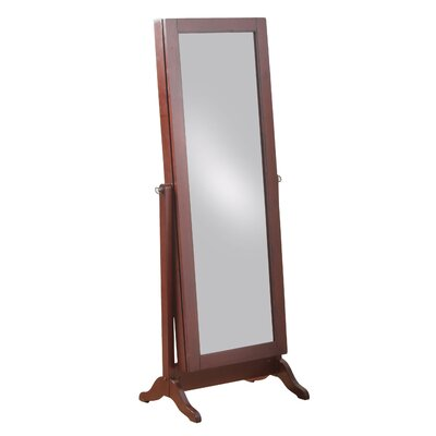 Peddie Sliding Jewelry Armoire with Mirror