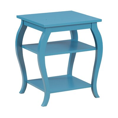 Panorama End Table Finish: Teal
