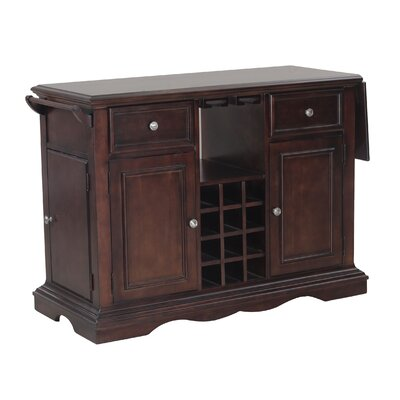 Alton Kitchen Island Base Finish: Dark Cherry