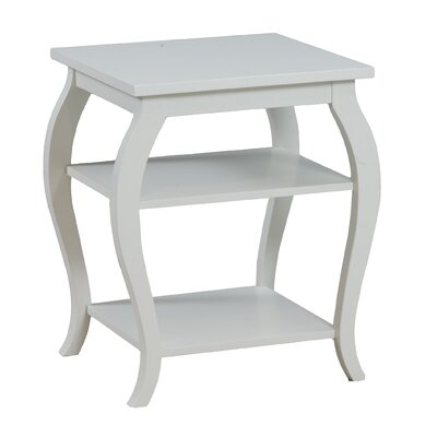 Molina End Table Color: White