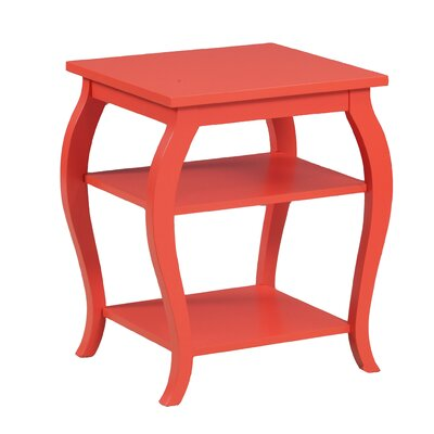 Molina End Table Color: Orange