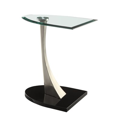 Cheap Powell Chairside Table in Brushed Chrome (PW4295)