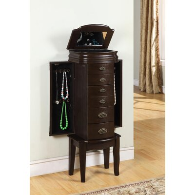 Casias Transitional Jewelry Armoire in Espresso