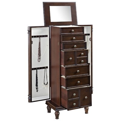 Bernadine Free Standing Jewelry Armoire with Mirror