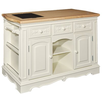 Hofmeister Kitchen Island with Butcher Top