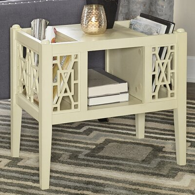 Alfort End Table Color: Cream