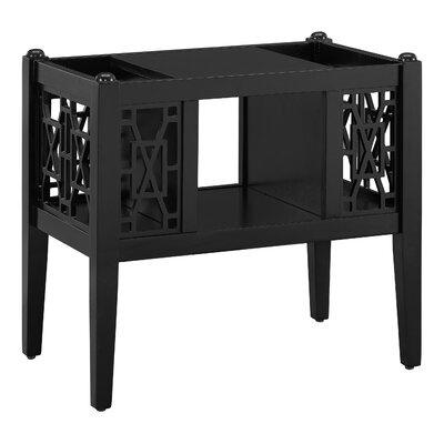 Alfort End Table Finish: Black