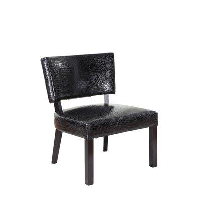Crocodile Print Slipper Chair