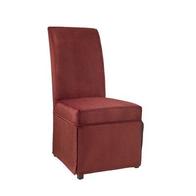 Velvet Skirted Slipcover Upholstery: Poppy Red