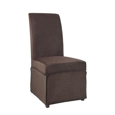Velvet Skirted Slipcover Upholstery: Mink Brown