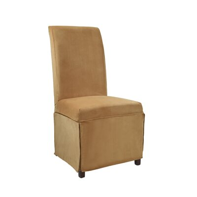 Velvet Skirted Slipcover Upholstery: Butternut Gold