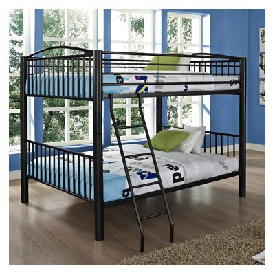 Heavy Metal Slat Bunk Bed Size: Twin, Color: Black