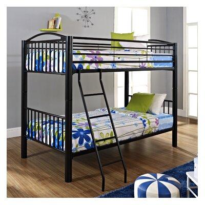 Heavy Metal Slat Bunk Bed Size: Full, Color: Black