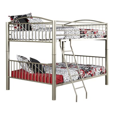 Heavy Metal Slat Bunk Bed Size: Full, Color: Pewter