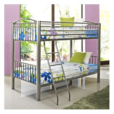 Hettinger Heavy Metal Slat Bunk Bed Size: Twin, Color: Pewter