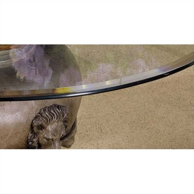45 54 Round Glass Table Top With Beveled Or Wave Edge Table Top Size 54 Beveled Edge image