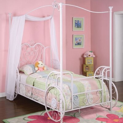 Princess Emily Vintage Carriage Canopy Twin Bed