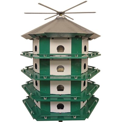 34.5 in x 29.5 in x 29.5 in Purple Martin Bird House