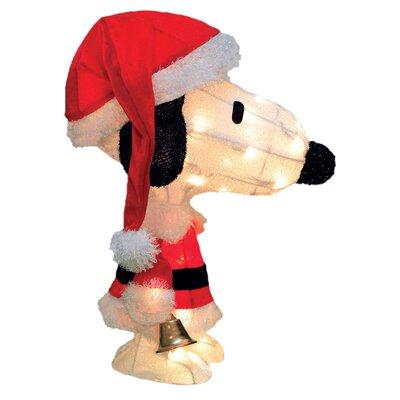 Peanuts Charlie Brown in Santa Suit Yard Art Christmas Decoration