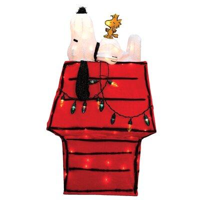 Peanuts Snoopy & Woodstock Dog House Yard Art Christmas Decoration