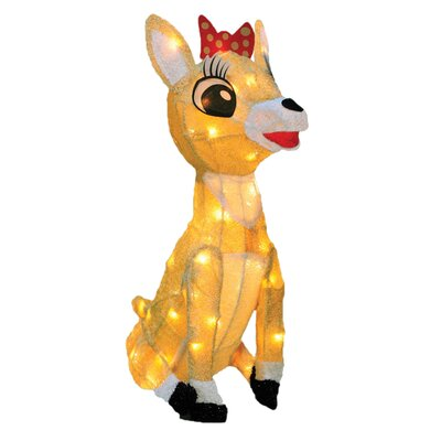 Rudolph the Red Nosed Reindeer Clarice Christmas Decoration with Lights