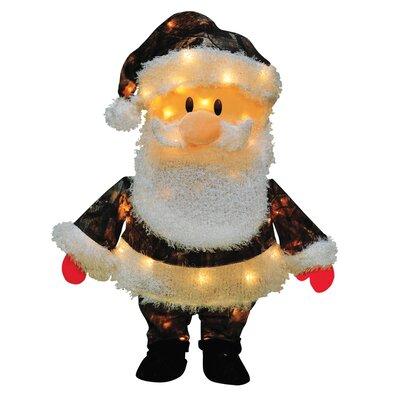 Candy Lane Santa Claus in Camo Yard Art Christmas Decoration