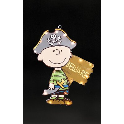 Peanuts Charlie Pirate Lighted Halloween Window Decoration 77088