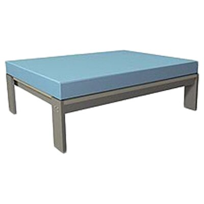 Luma Ottoman with Cushion Fabric: Frost Grey, Size: 34x40.5