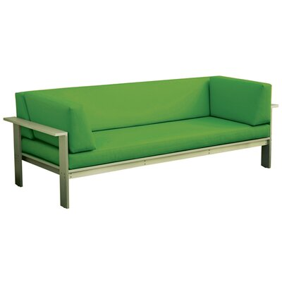 Luma Sofa with Cushions Fabric: Lime