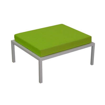 Talt Ottoman with Cushion Finish: Stainless Steel, Fabric: Lime