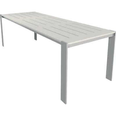 Luma Dining Table Table Size: 54x96, Finish: Dolphin Grey Polyboard