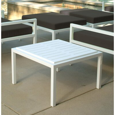 Talt Side Table Base Finish: Stainless Steel, Finish: Polar White Polyboard