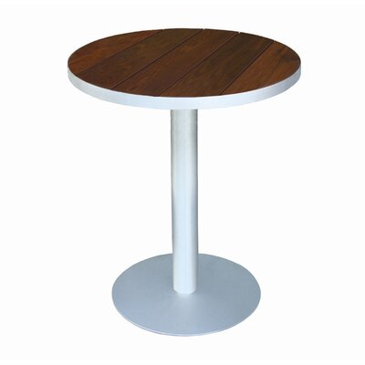 Luma Bistro Table Top Finish: Glacier Gray Polyboard, Table Size: 36