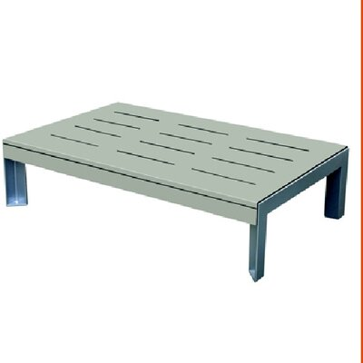 Etra Coffee Table Base Finish: Stainless Steel, Top Finish: Dolphin Gray Polyboard