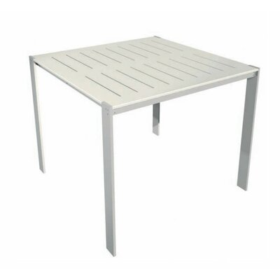 Luma Bar Table Table Size: 34x34, Top Finish: Glacier Grey Polyboard