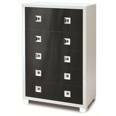 Quadrante 6 Drawer Dresser Color: Glossy Black