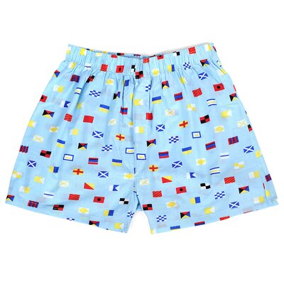 Nautical Flags Mens Boxer Size: Medium