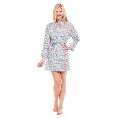 Chelsea Cotton Short Robe Size: Medium