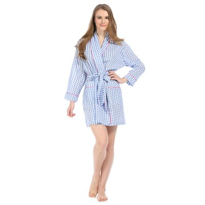 Maisie Cotton Short Robe Size: Small
