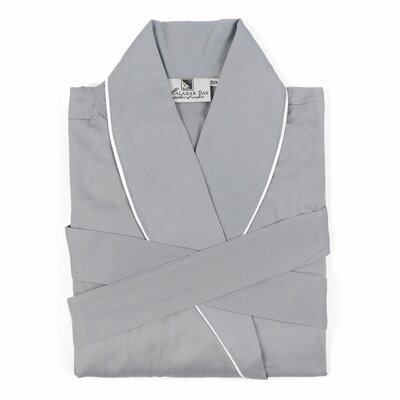 Sateen Bathrobe Size: Medium, Color: Gray